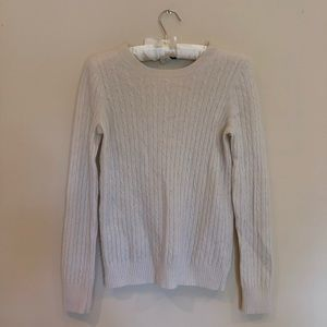 J Crew Cream Cable Knit Sweater Size Small